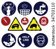 H1N1 swine flu sign collection individually layered - stock photo