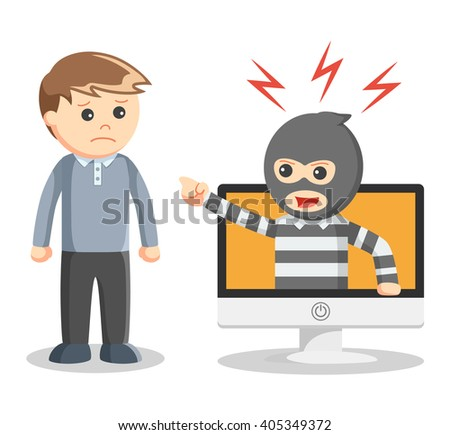 Hacker abused illustration