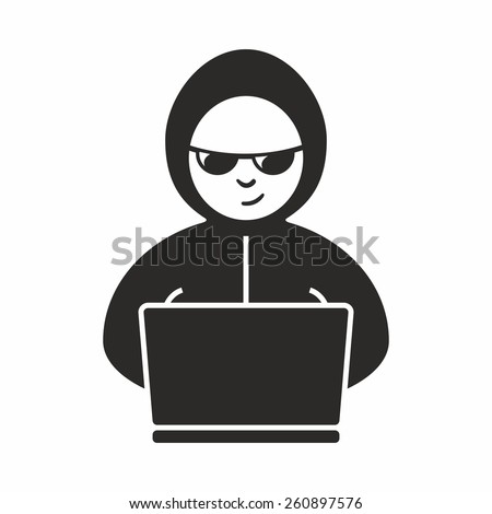 Hacker icon - stock vector