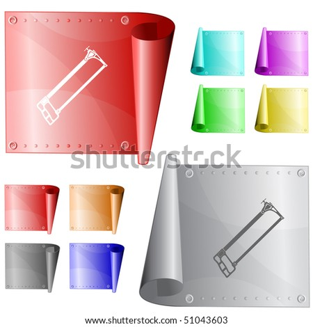 Hacksaw. Vector metal surface. - stock vector
