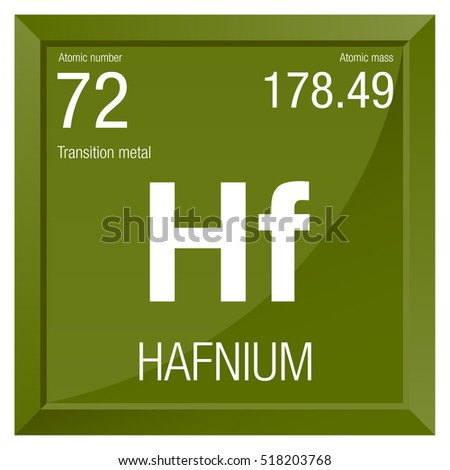 Hafnium symbol element number 72 periodic stock vector 518203768 hafnium symbol element number 72 of the periodic table of the elements chemistry urtaz Gallery