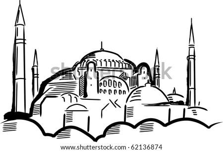 Hagia Sofia. Vector illustration. - stock vector
