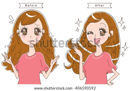 hair care - stock vector