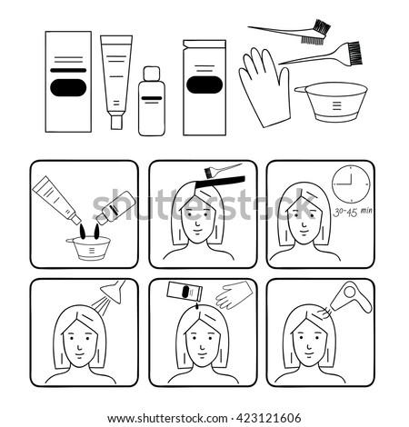Hair Dye Banco de imágenes. Fotos y vectores libres de derechos ...