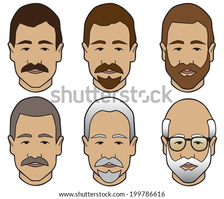 Hair Stages - stock vector