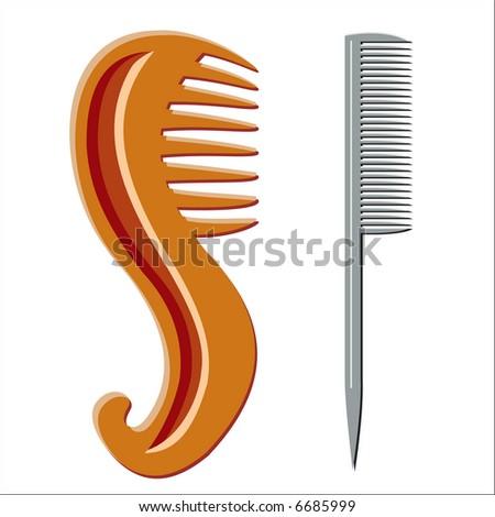 Hairbrush (vector) - stock vector