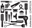Hairdressing related symbols 3 - stock