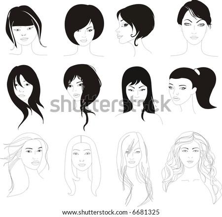 hairstylist - stock vector