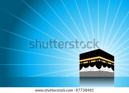 Hajj/ Pilgrimage Background 2-vector - stock vector