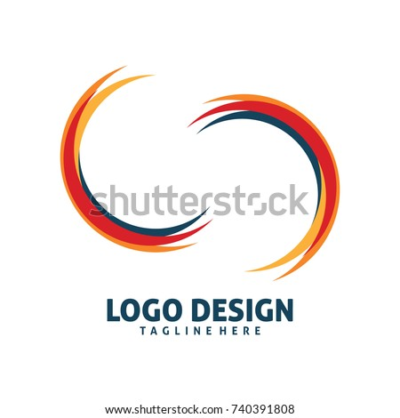 Beautiful Half Circle Art Logo Design Stock Photo (Photo, Vector  UF52