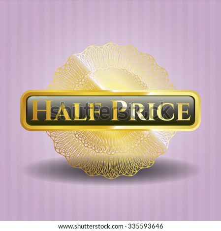 Half Price shiny emblem - stock vector