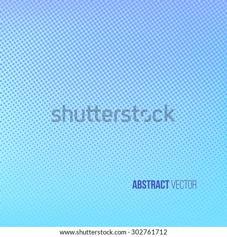 Halftone background. Blue and turquoise abstract spotted pattern. Vector illustration for business presentation - stock vector