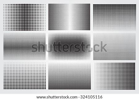 Halftone backgrounds.Halftone dots vector illustration. - stock vector