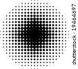 halftone circle pattern - stock vector