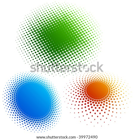 Halftone - color rings 3 - stock vector