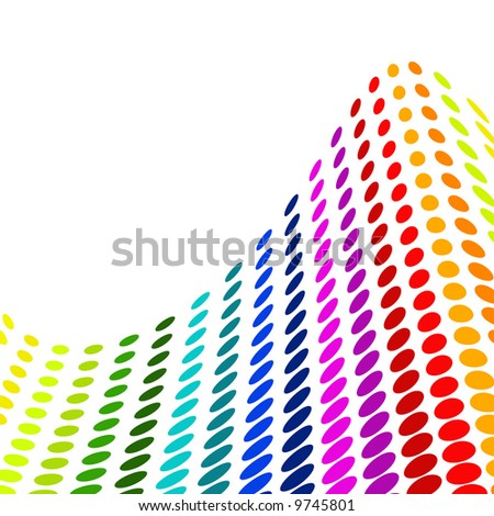 Halftone colorful vector