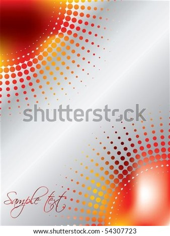 Halftone design with magma-like background - stock vector