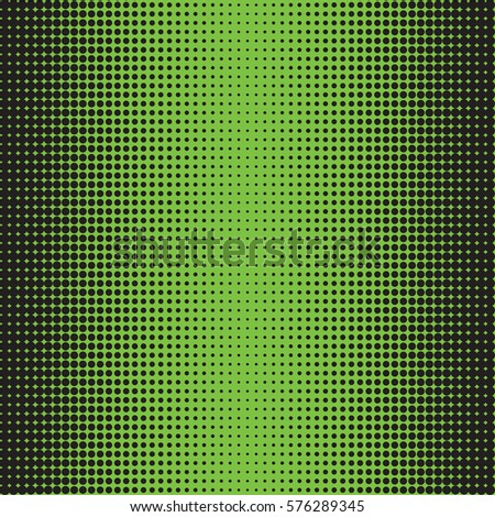 Halftone Dots Black On Green Background Texture Of Effect