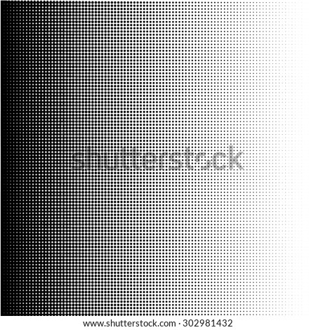 Halftone dots gradient in vector format - stock vector