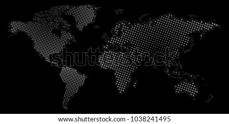 Halftone dotted world map vector eps10 vectores en stock 1038241495 halftone dotted world map vector eps10 illustration of abstract world map gumiabroncs Gallery