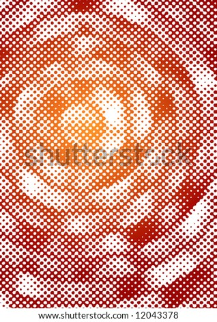 halftone element (can be used how background or pattern) - stock vector