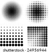 Halftone elements VECTOR - stock vector