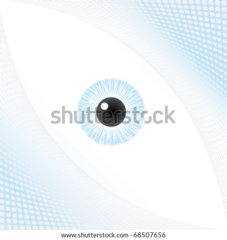 Halftone eye background