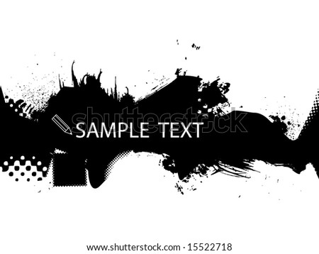 Halftone/grungy black abstract background