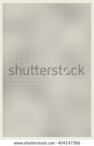 Halftone shaded retro old paper texture background - stock vector