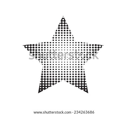 Halftone star.Halftone background .Vector template. - stock vector