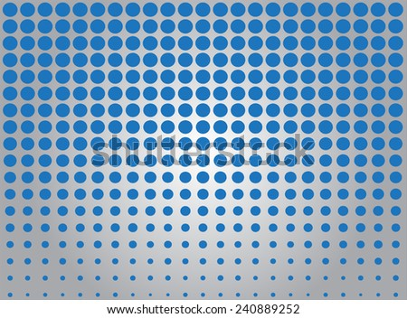 Halftone vector background.Abstract blue dot pattern. - stock vector