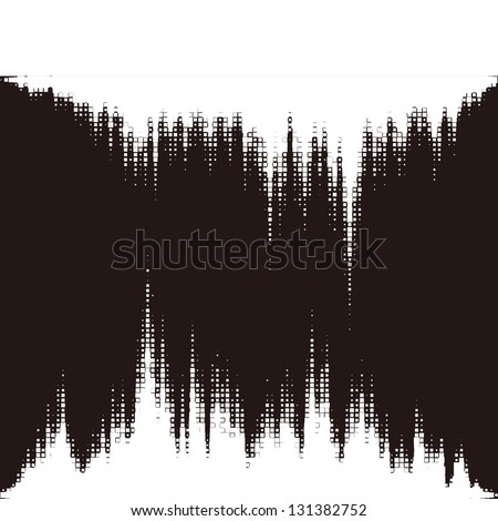 Halftone vector elements.Magic sound waves. Music round waveform background. You can use in game, club, radio, pub, party, DJ,concerts, recitals or the skyline city background. - stock vector