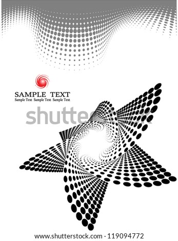 Halftone Web Template - stock vector