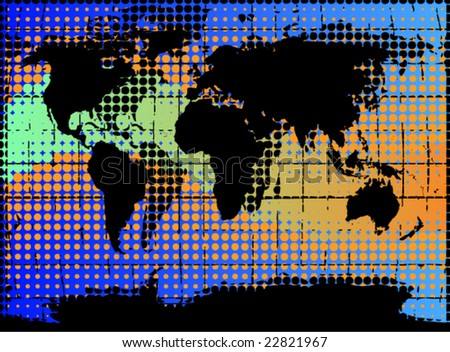 Halftone world map vector stock vector royalty free 22821967 halftone world map vector gumiabroncs Image collections