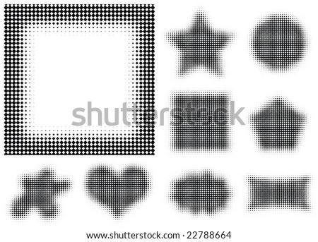 halftones rectangular dots high quality vector illustrations - stock vector
