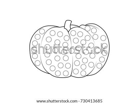Halloween Activities Kids Simple Style Preschoolers Stock Vector ...
