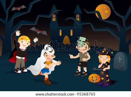 Halloween Adventure - stock vector