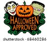 Halloween Approved Seal - stock vector
