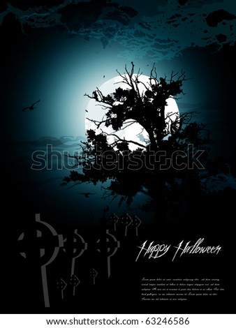 halloween background - stock vector