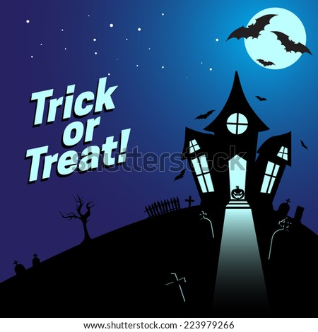 Halloween background. Bright colorful composition. Eps 10 vector illustration.