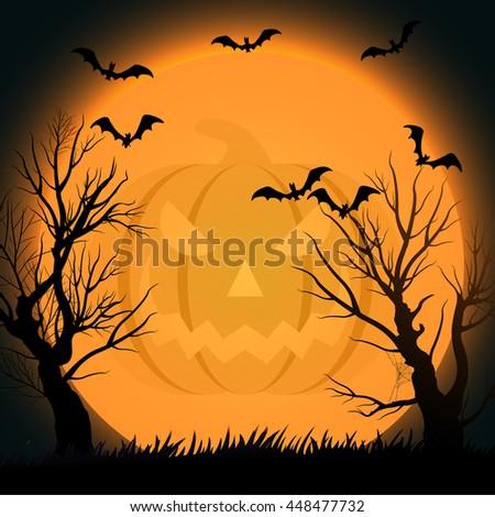 Halloween background eps10 - stock vector