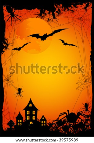 halloween background or invitation - stock vector