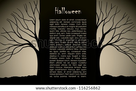 Halloween background vector design silhouette - stock vector