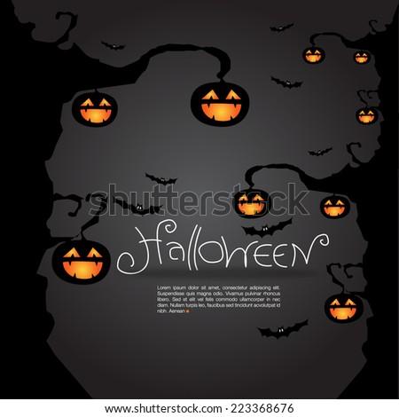 Halloween background, vector format - stock vector