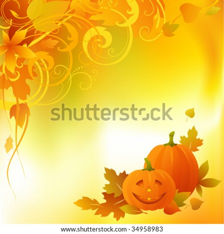 Halloween background with copy space. Illustrator's mesh tool used for the background.