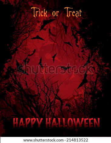 Halloween background with text illustration vector eps10 - stock vector