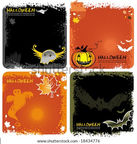 Halloween backgrounds set. To see similar, please VISIT MY GALLERY. - stock vector