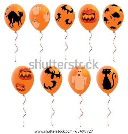 Halloween balloons - stock vector