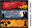 Halloween Banners - stock photo