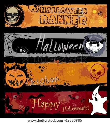 Halloween Banners, pumpkin with Teeth in the form of number thirty one - stock vector